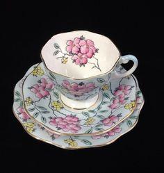 Foley Bone China 1850 tea trio