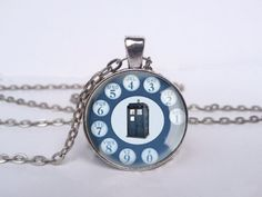 Dr Who Rotary Phone Necklace Dr Who Jewelry Dr Who by LePetitPanda, $12.95