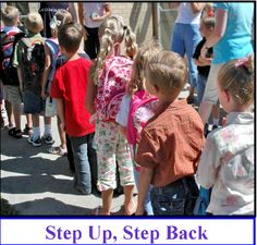 Step Up Step Back - Get To Know You Activity - can also be used as test review