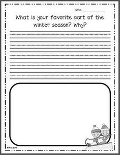 Free winter writing prompts