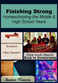 Finishing Strong ~ Homeschooling the Middle & High School Years #28   We're highlighting some great back to school posts. @Education Possible