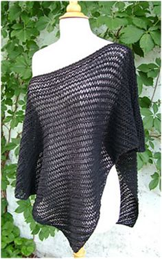 I love this knit poncho