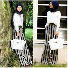 .@hanna_anna | Chain palazzos worn by Hijab is my Diamond (you can find this sister on FB) | Webstagram - the best Instagram viewer