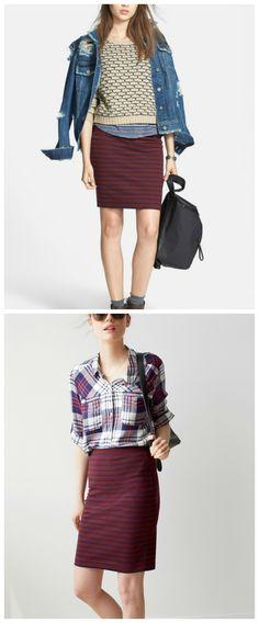 One gorgeous striped skirt, two ways.