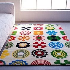 Want this for my daughter's room!      IKEA LUSY BLOM Rug Low Pile Modern Carpet  $47.50  #Ikea  #Rug  #Kid's room