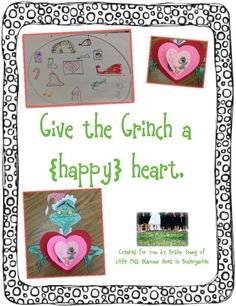 classroom, school, grinch heart, kindergarten christma, teach, little miss, decemb, writing activities, 1st grade activities