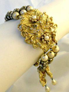 Hobe Bracelet Earring Set Statement Jewelry by VintageJewelryGems