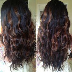 Dark Brunette Balayage. My hair will look like this sometime in my life! Iim determined