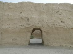 Ancient Chinese customs post on Silk Road near Dunhuang.