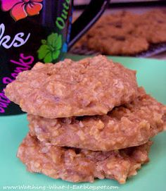 breakfast cookies ~ with peanut butter & protein powder ~no sugar added and egg, dairy & flour free!