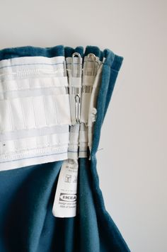 How to triple pinch pleat IKEA curtains using their hardware.