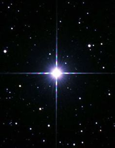 Procyon, the seventh brightest star in the sky and one of the vertices of the Winter Triangle. It's one of our nearest neighbors at just over 11 light years away in the constellation Canis Minor. Procyon is a binary star system, composed of a white main sequence star and a white dwarf star.