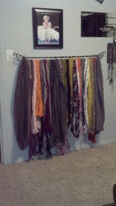 Scarf Rod #organize #closet