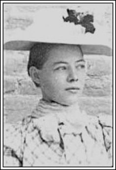 """Pearl Hart, """"The Lady Bandit"""" arrived in Colorado in 1893, and was a saloon singer and prostitute in Trinidad, CO. She became notorious for daring stage coach robberies in Arizona."""
