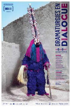 Dramaturgies en dialogue. Affiche. Par LE SÉISME. Photo: Jean-Claude Moschetti.