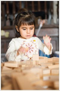 Building longer attention span. Follow the link to learn more about block play.