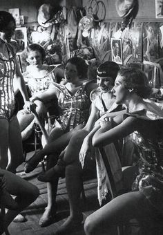 Backstage at Folies Bergère. Paris. 1932.