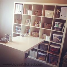 I want my craft room to look so organized!