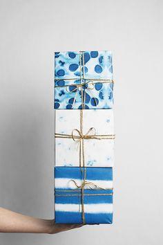 Indigo Gift Wrap (by sycamore street press)