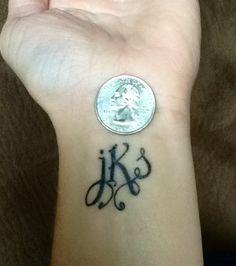 wrist tattoo - initial tattoo