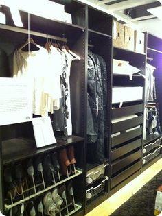 master closet from Ikea
