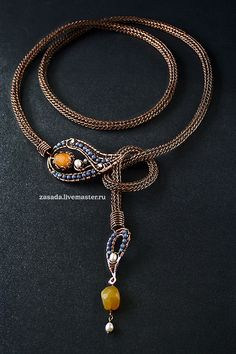"""""""Paisley mania"""" belt-necklace-bracelet transformer copper and natural stone by vzasade"""