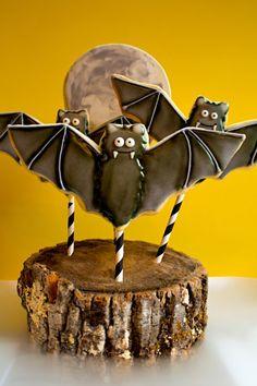 Bat cookie pops