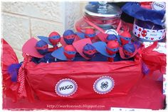 Spiderman Party Favors #spiderman #partyfavors