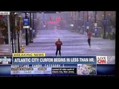 """CNN Hurricane Sandy Background Dancers October 29, 2012 Atlantic City less than an hour before curfew...""""They want everybody who doesn't have a reason to be outside.. ah ..inside their homes...."""" I'm pretty sure that's the Department of Youth in the background..."""