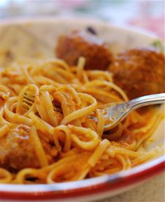Spaghetti with Pumpkin Parmesan Sauce
