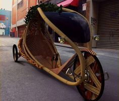 How cool is this bamboo bike?