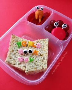 World Book Day lunch 2014 lunch box | packed in @EasyLunchboxes containers via Eats Amazing