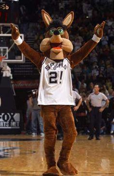 The Coyote.The San Antonio Spurs Mascot.