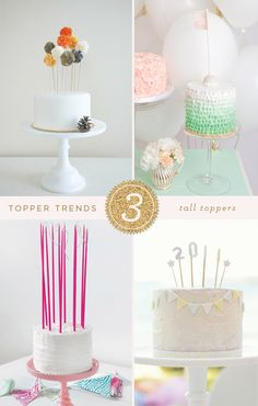 Great & Easy to make cake toppers