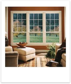 Double Hung Windows | grids on the top half of the double hung windows