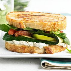 You'll love this easy and delicious Farmer's Market Grilled Cheese! We love the creamy garlic-and-herb goat cheese layer: http://www.bhg.com/recipes/seasonal/heart-healthy-recipes-from-the-farmers-market/?socsrc=bhgpin090314farmersmarketgrilledcheese&page=16