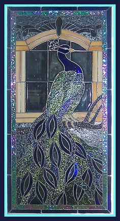 Stained Glass Peacock...