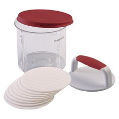 Patty Caddy - Transport burgers to and from the grill. Comes with lid and dividers. Collapsible for easy storage. Dishwasher safe.
