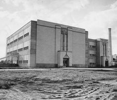 Detroit's Samuel C. Mumford High School is shown in October 1949, the year it opened. The once-exquisite art deco building, which has served more than three generations of students on Detroit's northwest side, will be demolished in the summer of 2012 to make way for a new school. (Detroit News Archives)