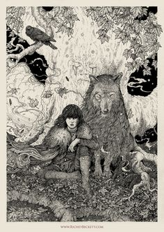 My original piece for the Mondo/HBO GAME OF THRONES art show, which opened last night in Austin, Texas. Ink on paper.