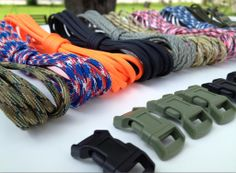 X-Cords Paracord bracelet kit, all American paracord 550. Proud to offer to you a survival bracelet kit that will serve many purposes. The kit will contain 10 different colors of paracord 550 all 7 strand and made in the USA. Each hank will be ~10 feet long and will make a bracelet up to 10 inches using the single cobra weave. The colors are multi-camo, red/white/blue camo, orange, black, ACU digital read more..