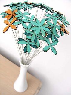 veneer flowers for center pieces?