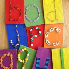 Touch 'n Learn Alphabet Cards are a brilliant way to teach letters through both touch and sight. Great preschool kids' craft...