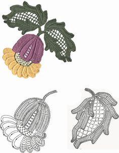 Enchanted Weave: Leaves Crochet (Schemas)