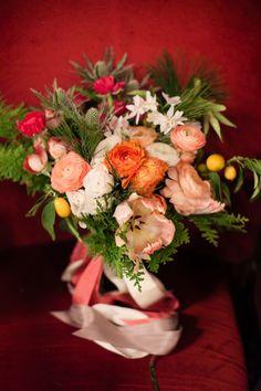 lush tulip, ranunculus and spray rose bouquet