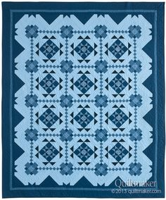 Oh, Sew Blue! from Quiltmaker's Jan/Feb '14 issue. See scrappy versions of this quilt every week on Quilty Pleasures, starting with a Christmas version by Colette DeGroot: http://www.quiltmaker.com/blogs/quiltypleasures/2013/12/qm-scrap-squad-colettes-final-mission/
