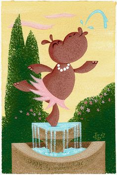 Hippo Fountain by pumml, via Flickr