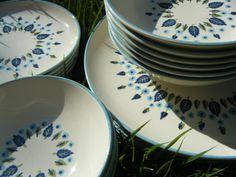 Swiss Alpine Chalet Dinnerware - chainsawshimmy, etsy