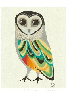 sooti owl, color schemes, owl art, art prints, art birds, bird art print, illustration owl, owl tattoos, hoot