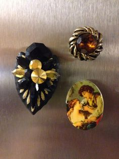 Vintage earring magnets by RiverRatCrafts on Etsy, $6.00